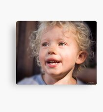 Look at those curls Canvas Print