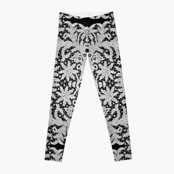 #Crochet #Antique #vintage #weaving lace patterns pattern decoration ornate abstract art Leggings
