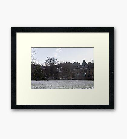 Edinburgh Castle & Charlotte Square Framed Print