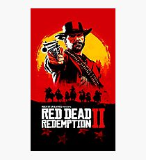 Red Dead Redemption II Cover Poster Photographic Print