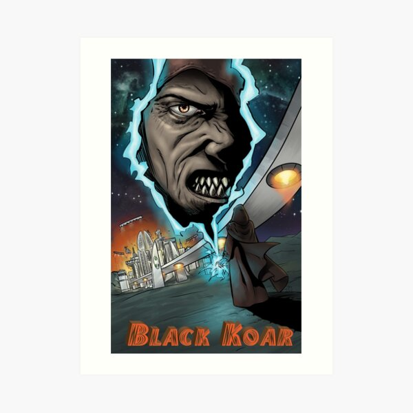 Black Koar Art Print