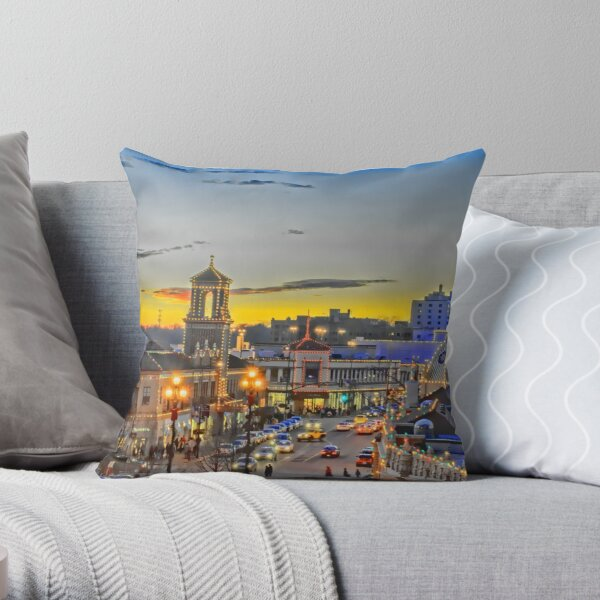 The Plaza Lights WOWC Throw Pillow