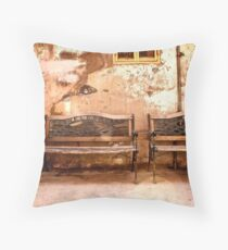 Welcome.......Take a seat Throw Pillow