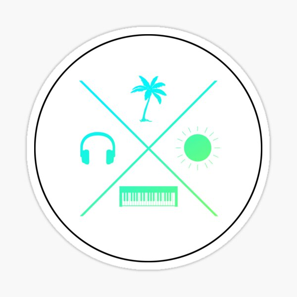 Tropical House Summer Vibes - Electric Sticker