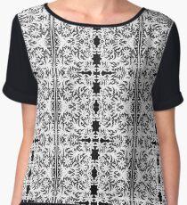 #Crochet #Antique #vintage #weaving #lace #patterns #pattern #decoration #ornate #abstract #art #textile #flower #vector #repetition #illustration #design #vertical #gray #blackandwhite #monochrome Chiffon Top