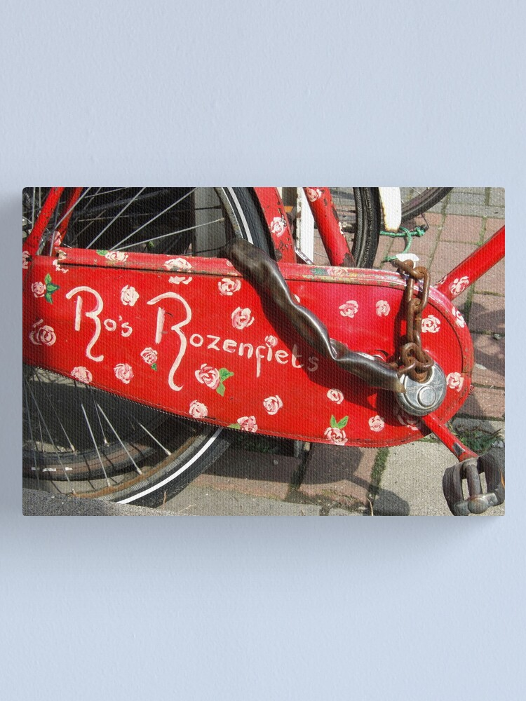 Alternate view of Ro's Rose bike Canvas Print