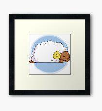 Cute Sleeping Sheep Framed Print