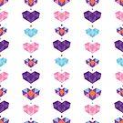 Colorful crystal hearts holiday by oksancia