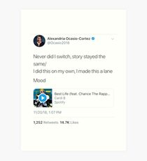 Ocasio-Cortez Quoting Cardi Art Print