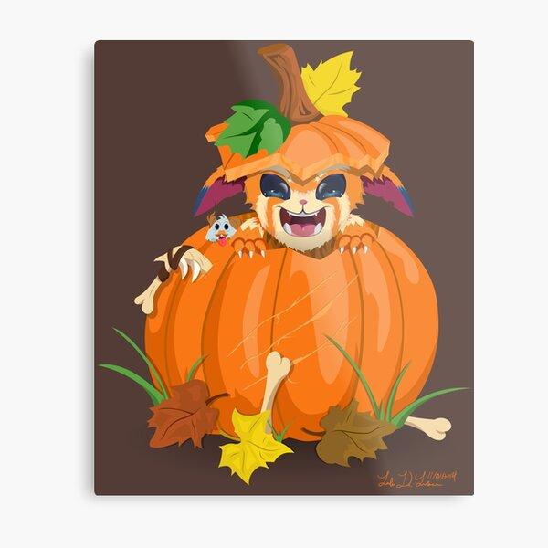 Pumpkin Gnar Metal Print