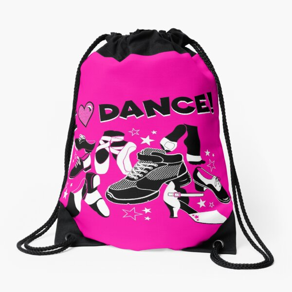 I Love Dance - A Variety of Styles Drawstring Bag
