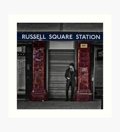 Russel Square Tube Station Art Print