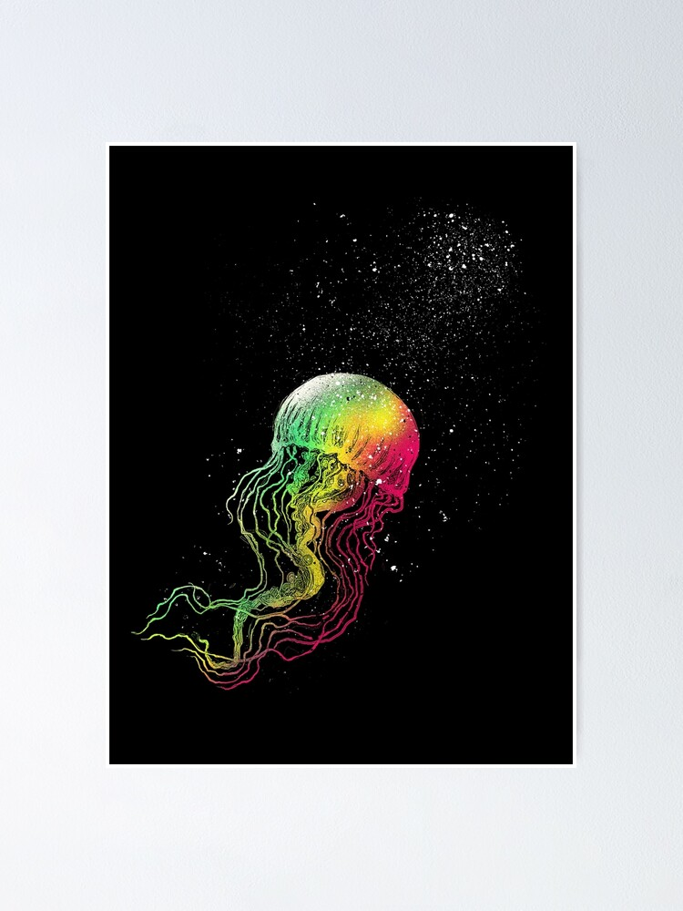 Alternate view of Rainbow jellyfish Poster