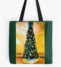 Christmas Tree (Yellow Background) Tote Bag