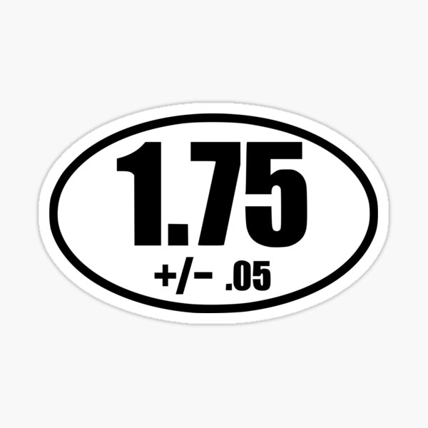 1.75 3d printer filament tolerance oval sticker Sticker