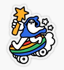 The Raddest Wizard of All Time Transparent Sticker