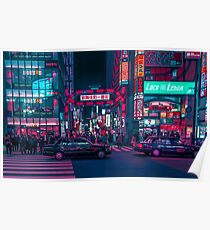 Póster Cyberpunk Tokyo Street