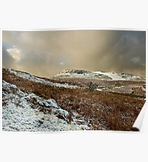 Welsh Winter Mountains Poster