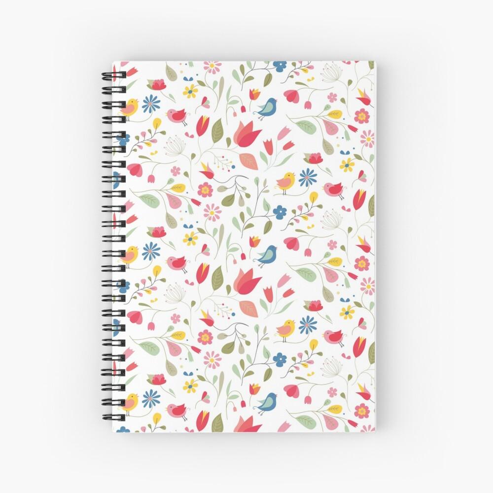 Cahier à spirale «Motif la plus jolie des fleurs»