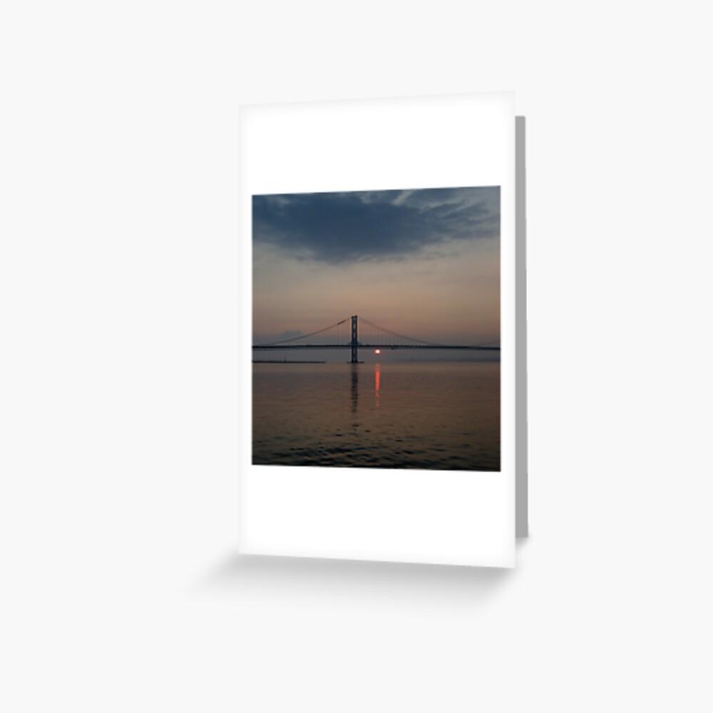 Bridge Sunset Greeting Card