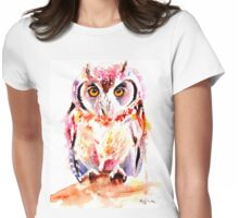 Little Owl Womens Fitted T-Shirt