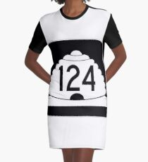 Utah State Route SR-124 | United States Highway Shield Sign Graphic T-Shirt Dress