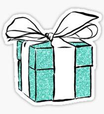 blue gift box Sticker