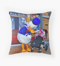 Rosalie meets Donald Duck Throw Pillow