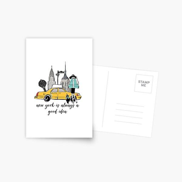 Fille de new york Carte postale