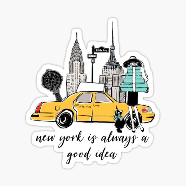 New York Girl Sticker
