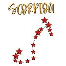 Scorpion (SCORPION) Star Astrology Sign - Gold, Ruby Style by fritzlang