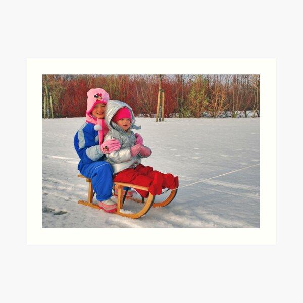 A sleigh ride..... Art Print