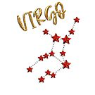 VIRGIN (VIRGO) star astrology sign - gold, ruby ​​style - great gift idea by fritzlang