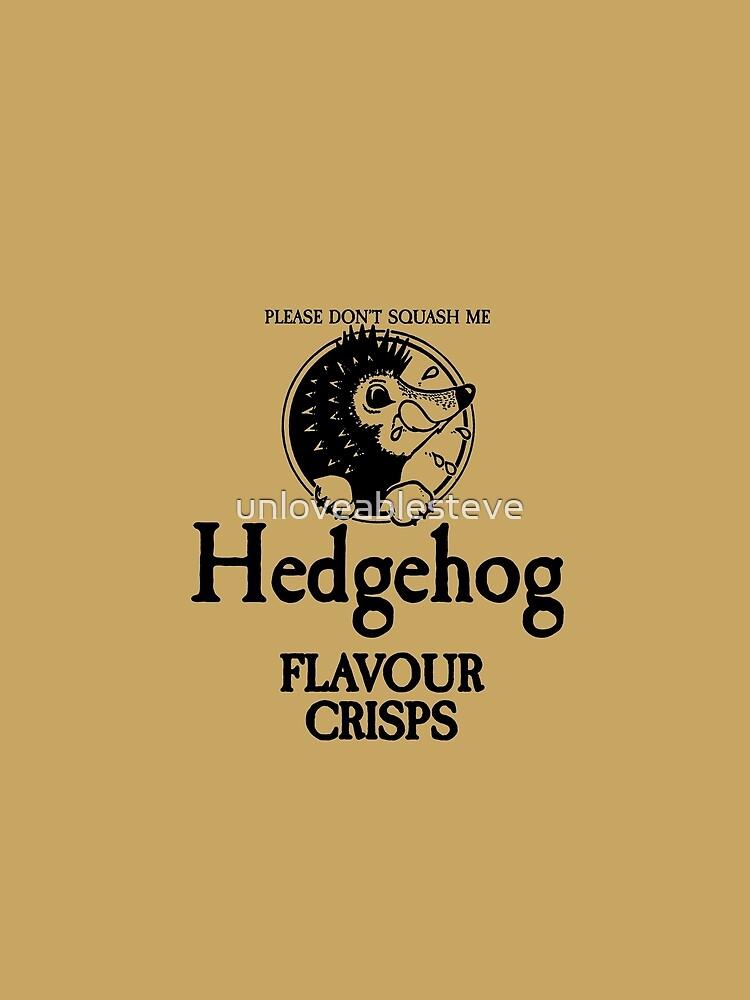 Hedgehog Flavour Crisps by unloveablesteve
