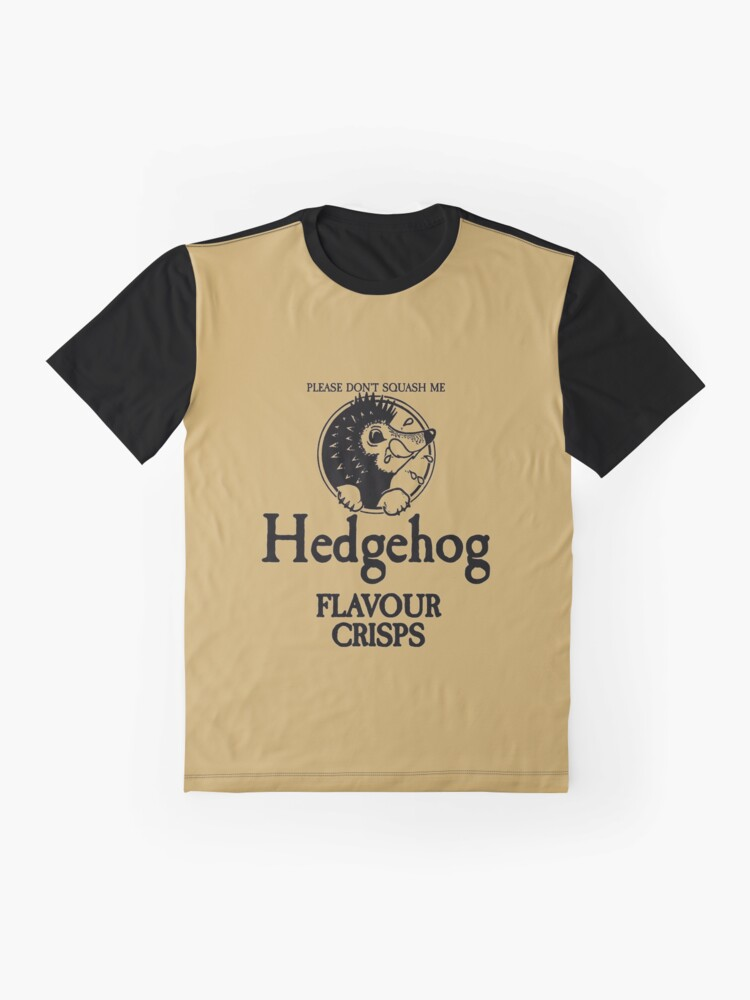 Alternate view of Hedgehog Flavour Crisps Graphic T-Shirt