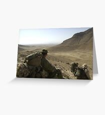 a historic Afghanistan landscape Greeting Card