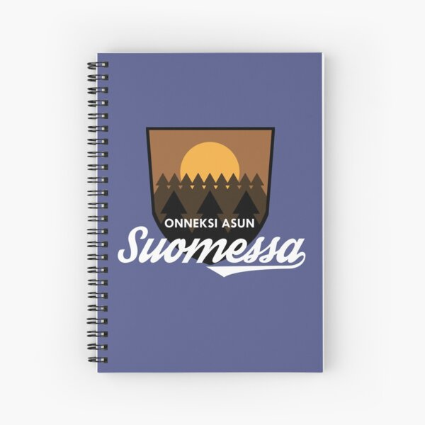 Onneksi asun Suomessa Spiral Notebook