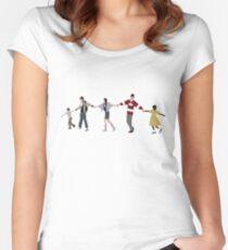 Ferris Bueller-Kette Tailliertes Rundhals-Shirt