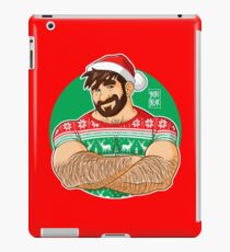 ADAM LIKES CROSSING ARMS AT XMAS PARTIES - DESIGN FOR RED TEE iPad Case/Skin