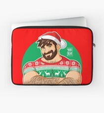 ADAM LIKES CROSSING ARMS AT XMAS PARTIES - DESIGN FOR RED TEE Laptop Sleeve