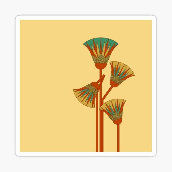 Alter ägyptischer Lotos - bunt Sticker