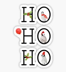 HO HO HO Christmas Penguins Sticker
