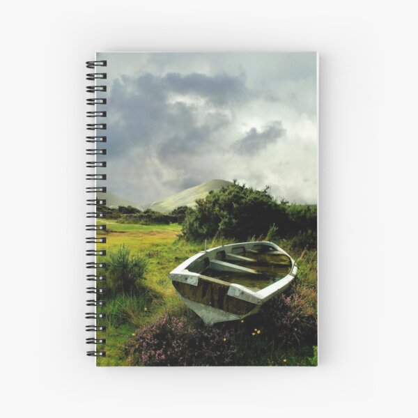 old boat.. lough na fooey Spiral Notebook