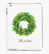 All is Calm Christmas Wreath iPad Case/Skin