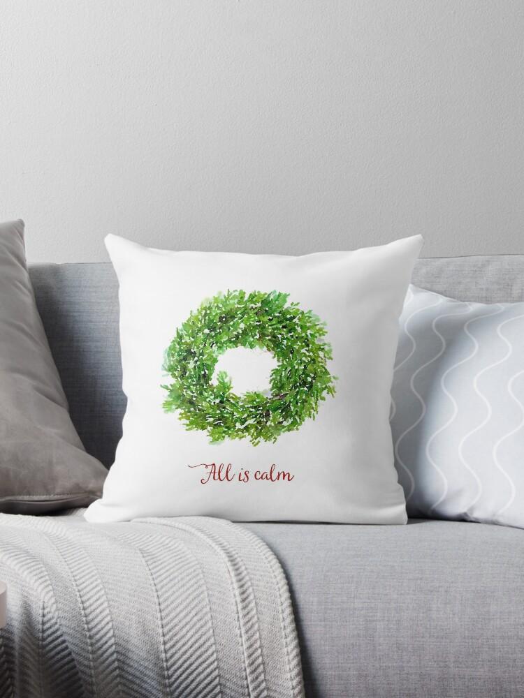 All is Calm Christmas Wreath by Ann Drake