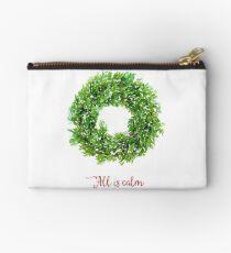 All is Calm Christmas Wreath Studio Pouch