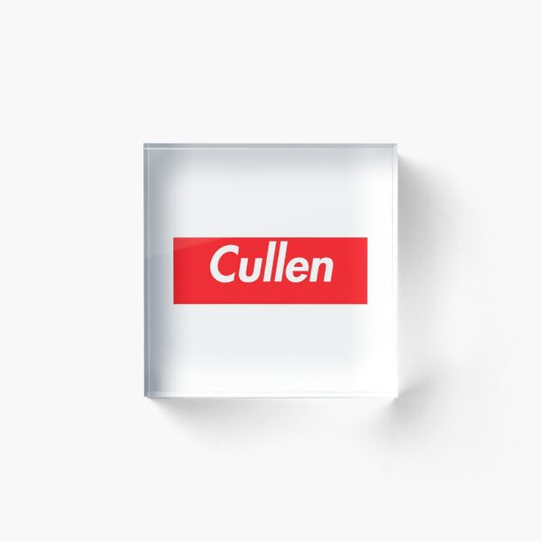 Hello My Name Is Cullen Name Tag Acrylic Block