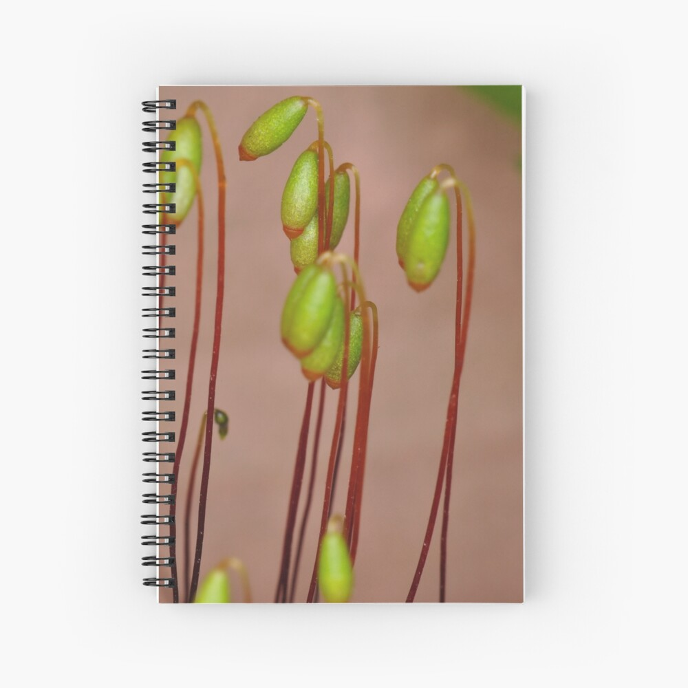 Moss Flowers Spiral Notebook