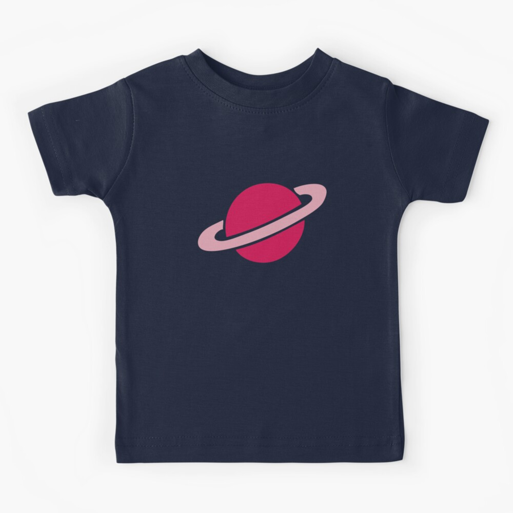 Neon Space Planets Pattern Kids T-Shirt