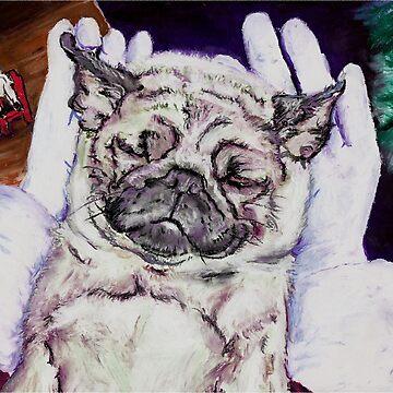 Twas the Pug before Christmas by douglasrickard